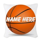 Personalized basketball Woven Pillows