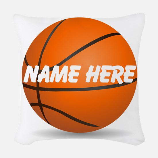 Personalized Basketball Ball Woven Throw Pillow
