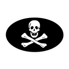 PIRATE! Oval Car Magnet
