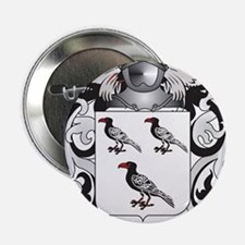 """Jehan Coat of Arms (Family Crest) 2.25"""" Button"""