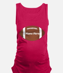 Personalized Football Ball Maternity Tank Top