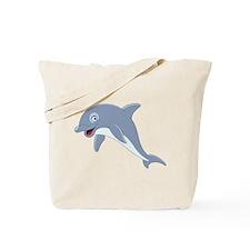 Cartoon Dolphin Tote Bag