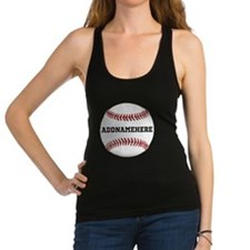 Personalized Baseball Red/White Racerback Tank Top