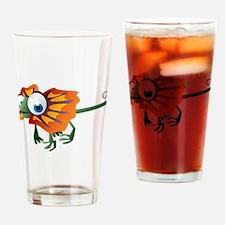 Cartoon Lizard Drinking Glass