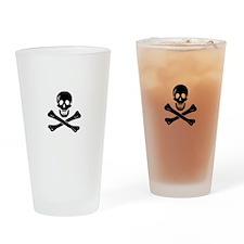 Skull Crossbones Drinking Glass