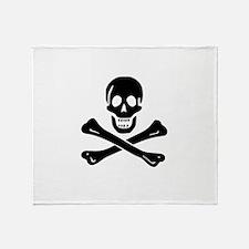 Skull Crossbones Throw Blanket