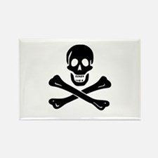 Skull Crossbones Rectangle Magnet