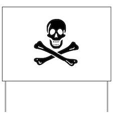 Skull Crossbones Yard Sign