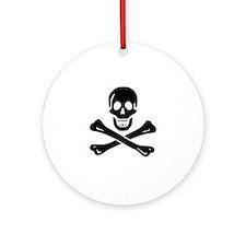 Skull Crossbones Ornament (Round)