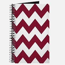 Dark Red and White Chevron Journal