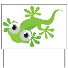 Cartoon Gecko Yard Sign
