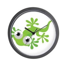 Cartoon Gecko Wall Clock