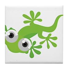 Cartoon Gecko Tile Coaster