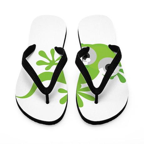 Cartoon Gecko Flip Flops by UnderTheSea2