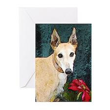 Greyhound Christmas Kaitlyn Greeting Cards