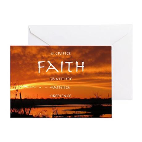 Centered By Faith Greeting Card