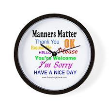 Manners Matter Wall Clock