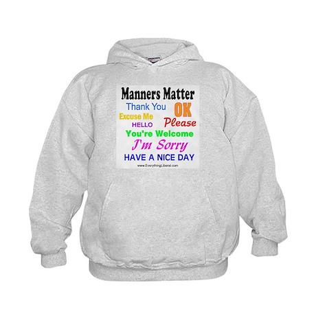 Manners Matter Kids Hoodie