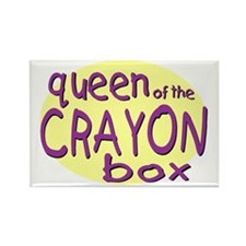 Queen of the Crayon Box Rectangle Magnet