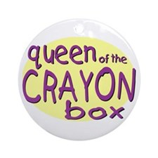 Queen of the Crayon Box Ornament (Round)