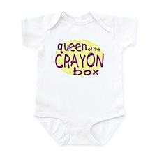 Queen of the Crayon Box Infant Bodysuit