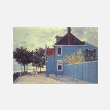 Blue House at Zaandam by Claude M Rectangle Magnet