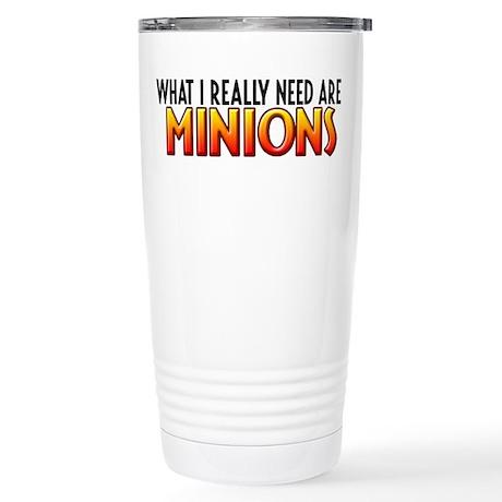 I Need Minions Stainless Steel Travel Mug