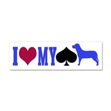 Car Magnet 10 x 3 I heart my spayed dog