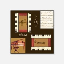 Piano Music Song Clef Sticker