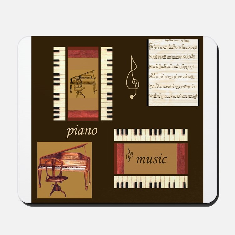 Piano Music Song Clef Mousepad