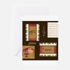 Piano Music Song Clef Greeting Card