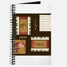 Piano Music Song Clef Journal