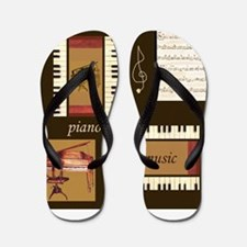 Piano Music Song Clef Flip Flops