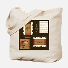 Piano Music Song Clef Tote Bag