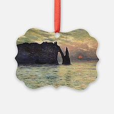 Cliff, Etretat, Sunset by Claude  Ornament