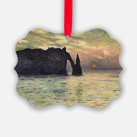 Cliff, Etretat, Sunset by Claude  Ornament