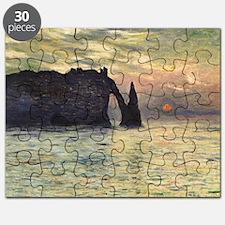 Cliff, Etretat, Sunset by Claude Monet Puzzle
