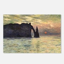 Cliff, Etretat, Sunset by Postcards (Package of 8)