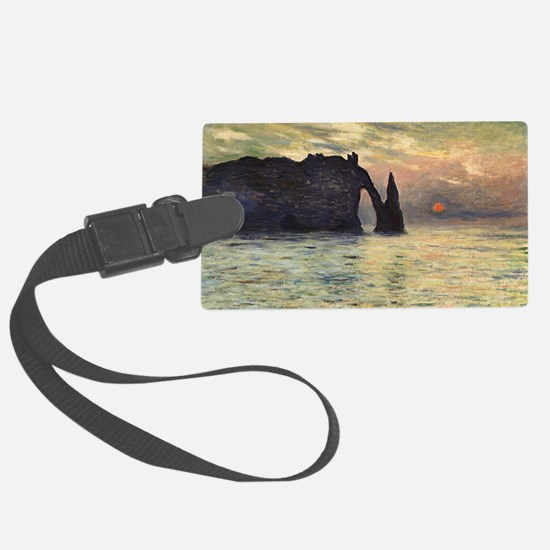 Cliff, Etretat, Sunset by Claude Luggage Tag