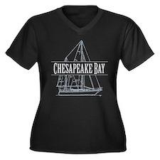 Chesapeake Bay - Women's Plus Size V-Neck Dark T-S