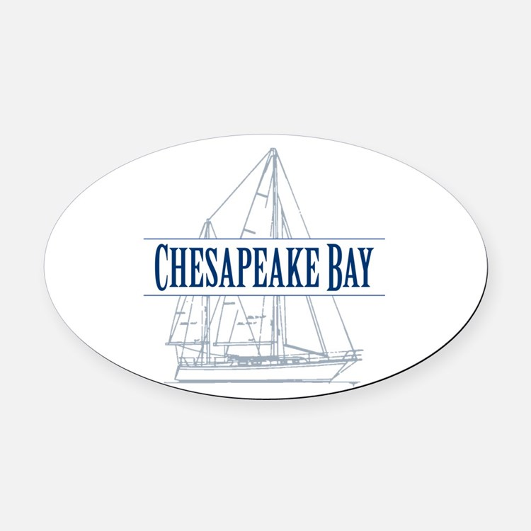 Chesapeake Bay - Oval Car Magnet