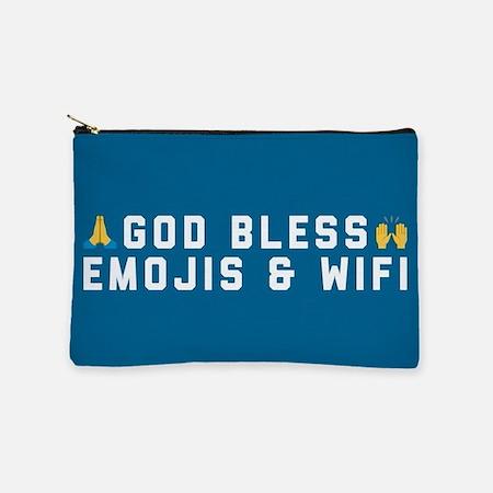 God Bless Emojis and WiFi Makeup Bag