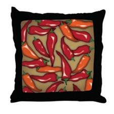 Red Chilli Peppers Throw Pillow