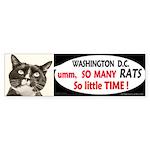 Too MANY RATS in Washington DC bumper sticker