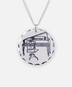 Federal Piano Line drawing Necklace