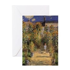 Artist's Garden at Vetheuil by Claud Greeting Card