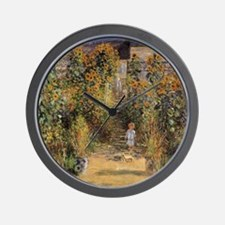 Artist's Garden at Vetheuil by Claude M Wall Clock