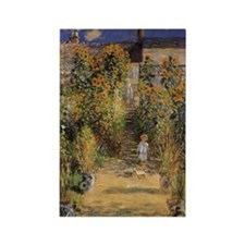 Artist's Garden at Vetheuil by Cl Rectangle Magnet