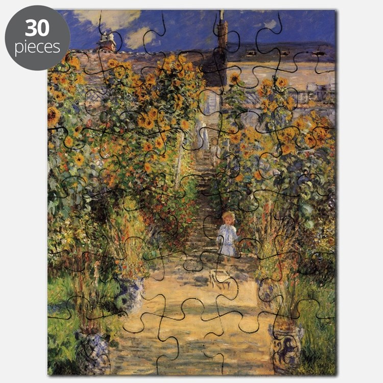 Artist's Garden at Vetheuil by Claude Monet Puzzle