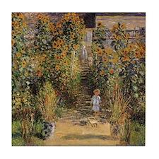 Artist's Garden at Vetheuil by Claude Tile Coaster